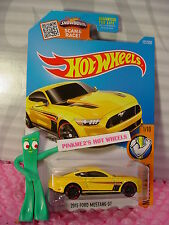 Case B/C 2016 Hot Wheels 2015 FORD MUSTANG GT #121 ✰Yellow; pr5✰Muscle Mania