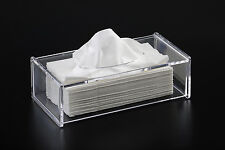 Serene- Clear Acrylic Rectangular Tissue Box By Showerdrape