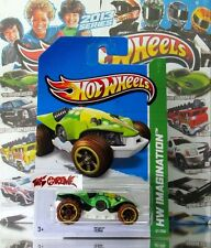 Hot Wheels 2013 #67 Teku™ METAFLAKE BRIGHT GREEN,YELLOW RIM,BROWN TIRE,OR6SP