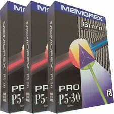 3 Professionale Memorex Video 8 8mm Camcorder Video8 Videocassetta Cassette