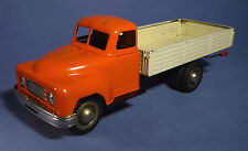 Gran göso chapa Hanomag camiones kipper 50's vintage friction Tin Toy Truck c171