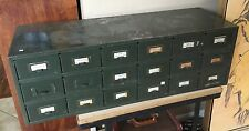 Antique Industrial Military Modern Multi Drawer Storage Cabinet