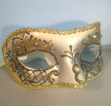 PASTELLO ARGENTO FILIGRANA Eye Mask Fancy Dress Masquerade Costume da gallina