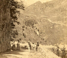 PIC DU MIDI BIGORRE FRENCH PYRENEES FR TOURISTS STEREOVIEW 1872 H. A. SOUTHWORTH