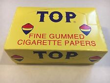 TOP PAPERS  CIGARETTE ROLLING PAPERS BOX SAME DAY SHIPPING