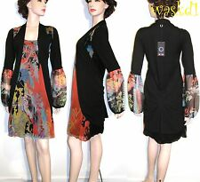 SAVE THE QUEEN bohemian M Woodland silk CHIFFON black VEST dress NWT Authentic!
