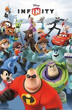DISNEY INFINITY POSTER ~ DETERMINED 22x34 Video Game Incredibles Toy Story