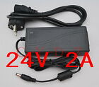 AC 100V-240V Converter Adapter DC 24V 2A Power Supply Charger US EU AU UK plug