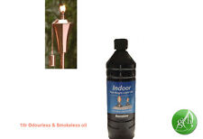 2 X 1 LITRE REFINED PURE TORCH  LAMP OIL, ODORLESS, SMOKELESS/INDOOR & OUTDOOR