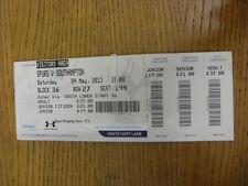 04/05/2013 Ticket: Tottenham Hotpsur v Southampton  (complete). Thanks for viewi