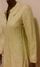 new -Chanel tweed yellow grey brown jacket coat dress 36 S