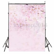 5x7FT Pink Bloom Flowers Baby Background Photography Backdrops Photo Studio Prop