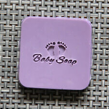 Customized Soap Stamp Mini Baby Foot Patterns Mold Natural Acrylic Glass DIY