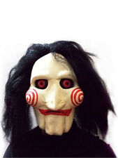Adult SAW Jigsaw Puppet Mask Outfit Fancy Dress Halloween Horror Gents Womens