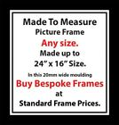 Bespoke Picture Frames made to measure picture size framing service Online 20mm