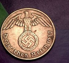NAZI copper penny ww2 .The real coin,no fakes!!'''//.