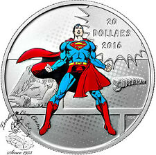 Canada 2016 $20 Superman Man Of Steel Silver Coin - DC Comics™ Orignals