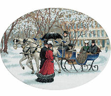 Cross Stitch Kit ~ Gold Collection Victorian Era Snowy Winter Ride #35053