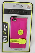 NEW ifrogz Luxe Lean Slim iPhone 4/4S PINK Hard Case Cover LuxeLean Snap-On