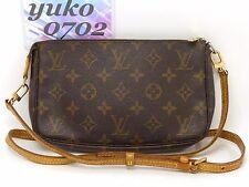 z6187 Auth Louis Vuitton Monogram VI0071 POCHETTE ACCESSOIRES Pouch M51980 GHW