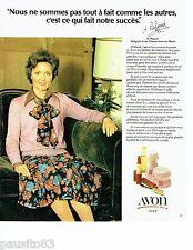 PUBLICITE ADVERTISING 116  1978  les rouges à lèvres Avon  maquillage *