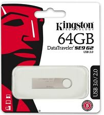 Kingston 64GB DataTraveler SE9 G2 3.0 64G USB 3.0 Pen Drive DTSE9G2/64GB *Retail