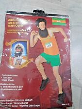 The Dictator Admiral General Aladeen Track Outfit Adult Costume Orange Large NEW