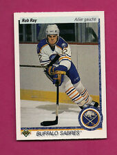 1990-91 UPD # 516 SABRES ROB RAY FRENCH ROOKIE CARD