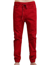 NE PEOPLE Mens Light Weight Harem Slim Fit Adjustable Waist Jogger Pants NEMP08