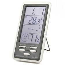 LCD Digital In/Outdoor Temperature Thermometer Hygrometer Humidity Meter Clock