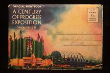 Worlds Fair Chicago 1933 View Book Of 19 Lithograph Photos Walgreens Lama Temple