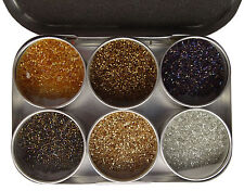 2mm Delica Beads Kit In Aluminium Container, 6 Assorted Colors Beading Set