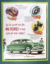 Original 1949 Ford Two Door Custom Ad CAR OF THE YEAR .. SEE FOR YOUR SELF