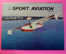 "SPORT AVIATION MAGAZINE SEPT/1968...ROCKFORD 1968..THE ""IDEAL"" HOMEBUILT"