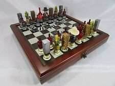 NEW Jack Daniels Old No.7 Whiskey Lynchburg Chess set~32 pcs.~Board~Storage