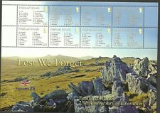 FALKLAND ISLAND SGMS1077-LEST WE FORGET 2 SHEETLETS MNH