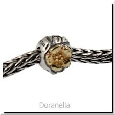 Authentic Trollbeads Silver & 18K Gold 41804 Flowers :0 30% OFF