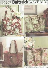 BUTTERICK SEWING PATTERN WAVERLY TOTES BAGS   B5267