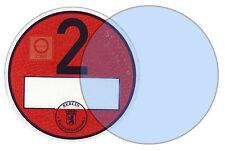 Haftfolie für Umweltplakette / Feinstaubplakette 82 mm, passgenau NEU