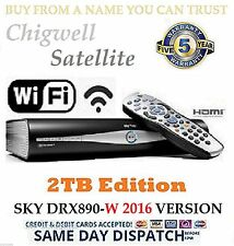 2TB SKY+ HD BOX SATELLITE RECEIVER PLUS DRX890 WIFI MODEL  MASSIVE 2TB UPGRADE