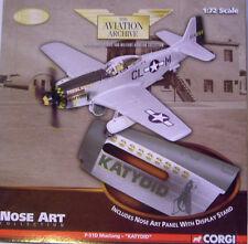 """Corgi aviation archive-US32218 """"nose art"""" P-51D mustang """"sauterelle"""""""