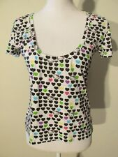 S7378 Hello Kitty Juniors Large Scoop Neck Short Sleeve Graphic Knit Top