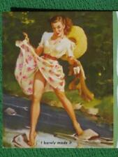 Elvgren Pinup Girl Art Vintage 1950's Advertising Ink Blotter Philadelphia PENN.