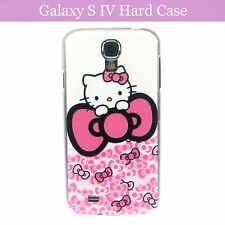 Hello Kitty w/ Ribbon Print Hard Back Case Cover Samsung Galaxy S4 S IV & Film