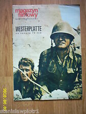 """WESTERPLATTE"" on front cover archive Magazyn Filmowy 35/71 Polish magazine"