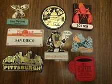 Vintage 8 Cities of US and Canada Refrigerator Magnets