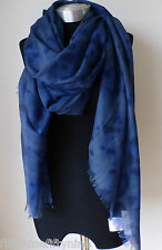 NEW STELLA MCCARTNEY BLUE CASHMERE SILK WOOL MIX SCARF / SHAWL/ WRAP/ GREAT GIFT