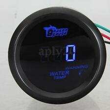 "2"" 52MM DIGITAL BLUE LED CELSIUS WATER TEMP TEMPERATURE GAUGE BLACK"