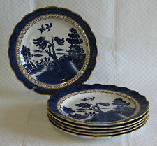 Set of 6 Booths A8025 Real Old Willow 21cm Lunch Plates