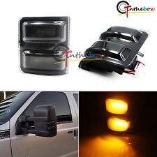 Smoked Lens LED Side Mirror Marker Lights for 2008-up Ford F250 F350 F450 F550